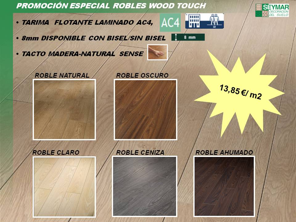Tarima ac4, 8mm tacto madera