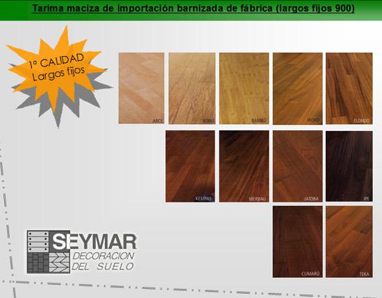 Tarima maciza barnizada de importacion - Suelos de madera maciza ...