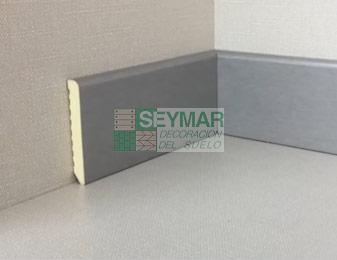Rodapié pvc vinílico aluminio 70x10