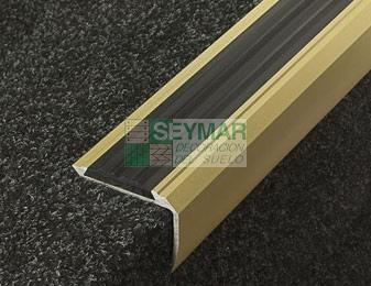 Junta aluminio antideslizamiento dorada
