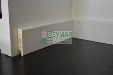 Rodapié pvc vinilico lacado blanco 70x10