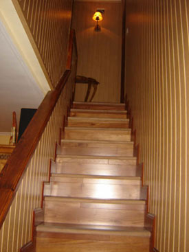 Revestimientos escaleras de madera - Revestir pared con madera ...