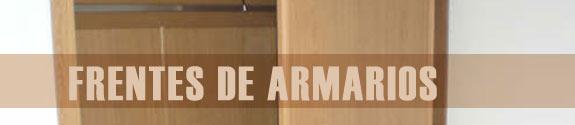 Frentes armarios madera